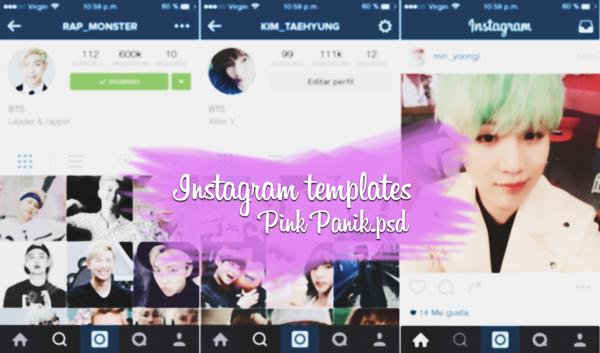 Instagram template by PinkPaanik