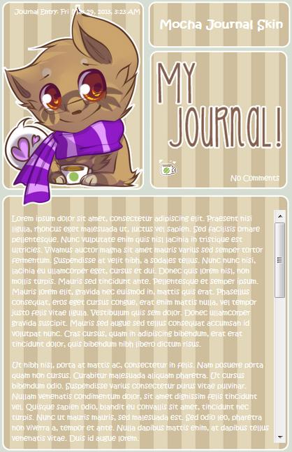 .: PC : Mocha Journal Skin :. by Yuminn