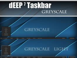 dEEP 7 Greyscale Taskbar by Cerbii