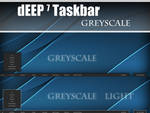 dEEP 7 Greyscale Taskbar