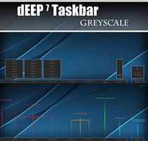 dEEP 7 Greyscale Taskbar for xWidget v1.2 by Cerbii