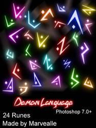 Demon Runes Brush set by FoxyWingsCreations