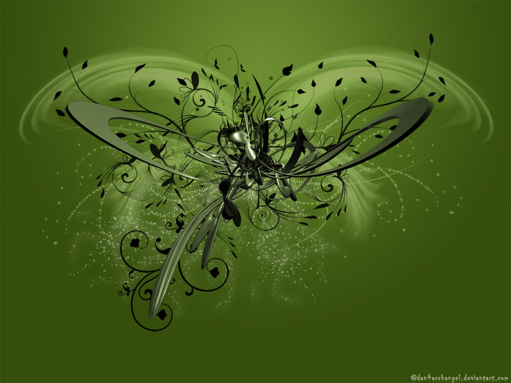 Greenish C4D Wallpaper by Dan4ArChAnGeL