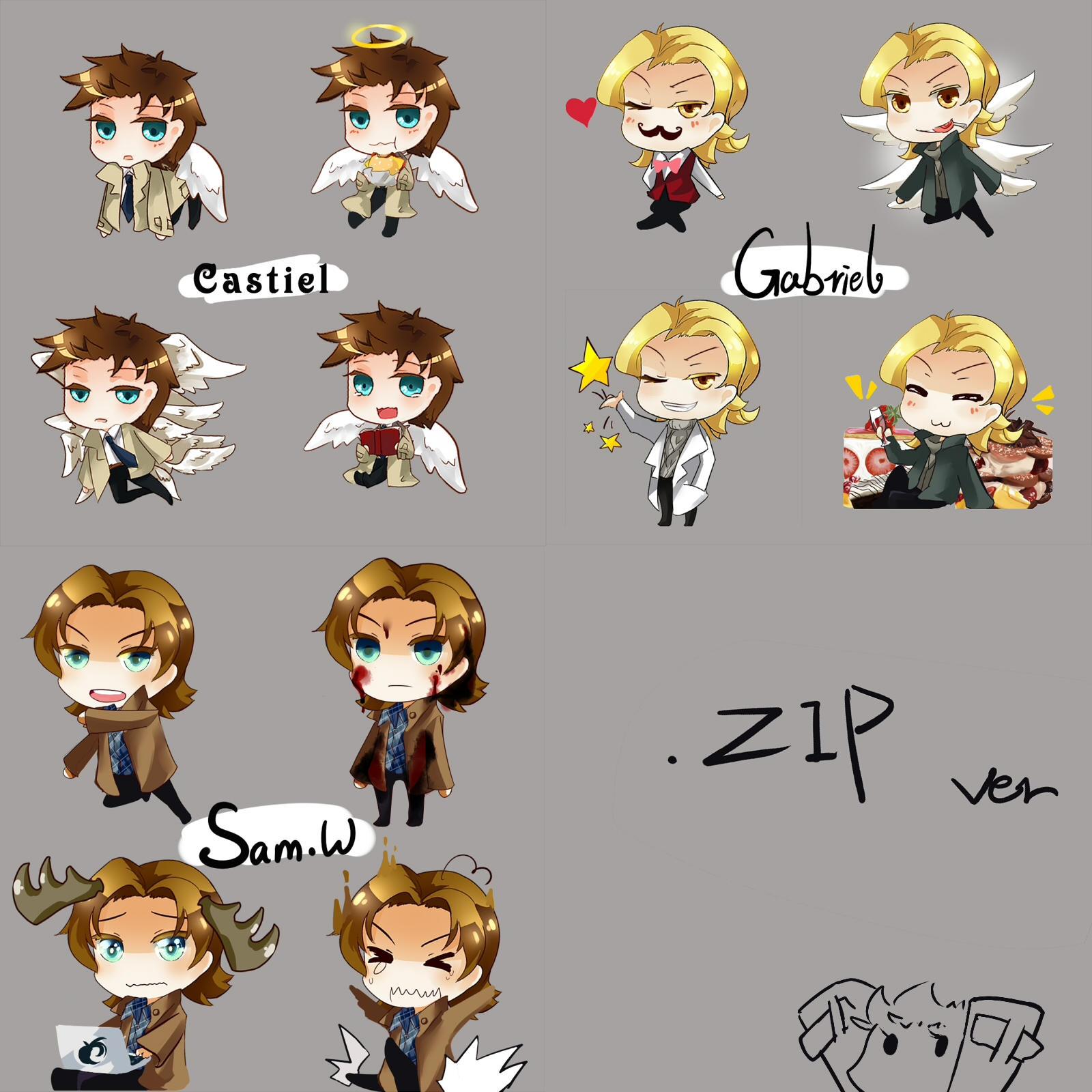SPN Shimeji ZIP_file by HZ-ink