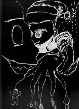 Puppet Strings Shadow inkbrush neg