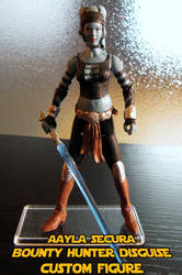 Aayla Secura Bounty Hunter Disguise Custom Figure by jvcustoms