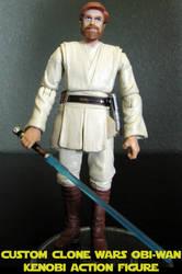 Clone Wars Obi-Wan Kenobi Custom Figure by jvcustoms