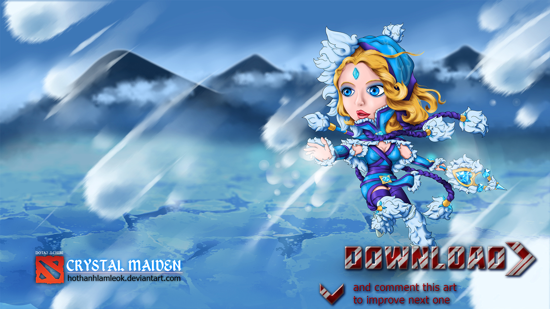 dota 2 chibi crystal maiden official by hothanhlamleok on