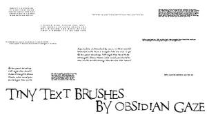 Tiny Text Brushes