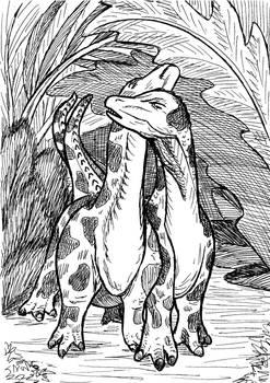 Undercanopy Courtship -Mussaurus