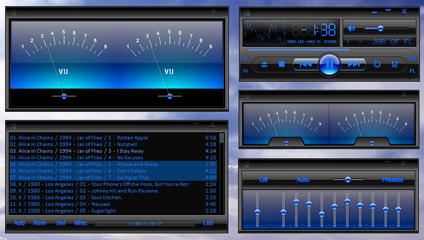 Winamp WMP11 BlueVU Skin by ZebNoid on DeviantArt