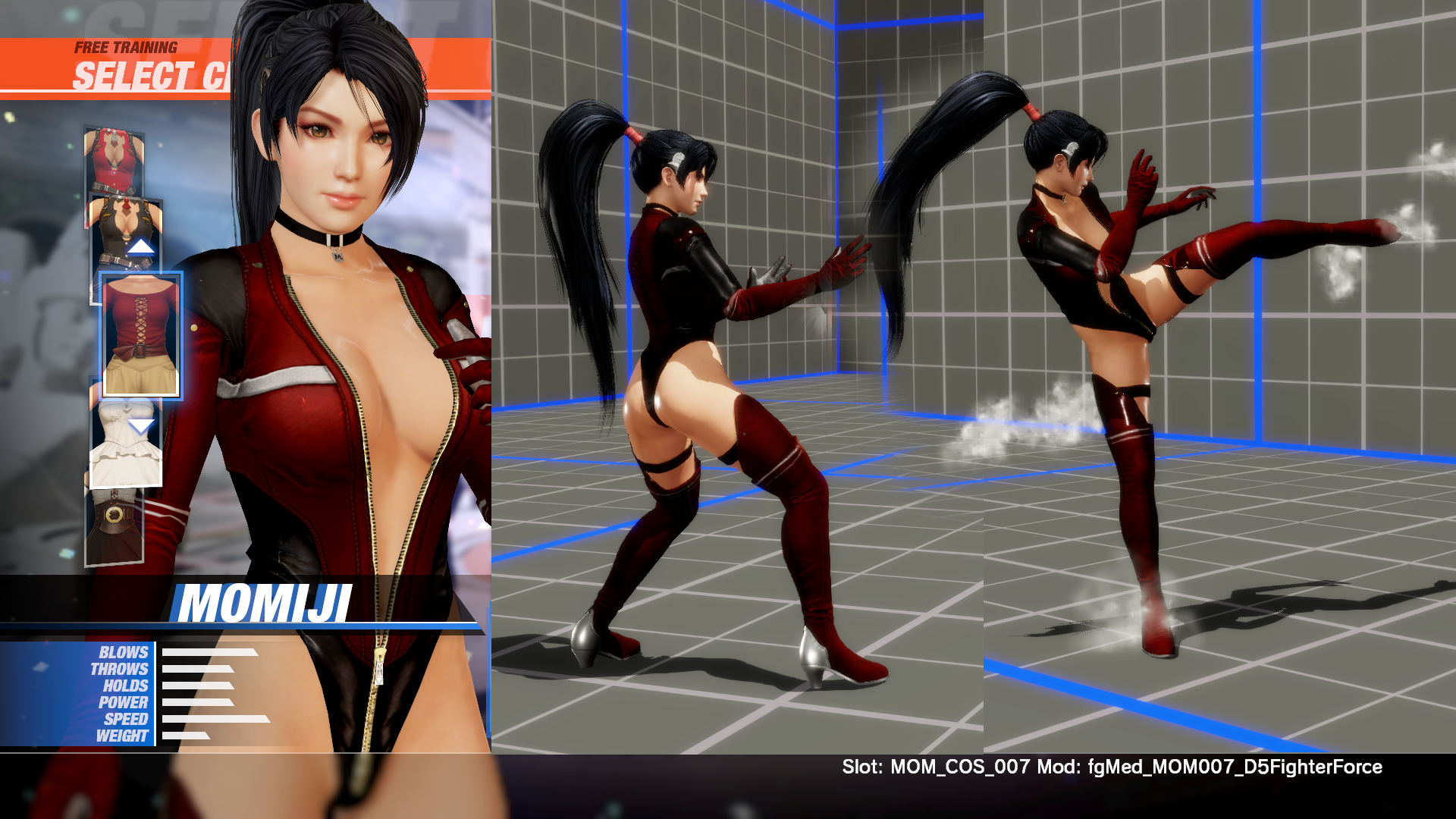 Momiji simplified Fighter Force Suit from DOA5