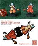 Female Elven Sorcerer - 28mm Paper Mini
