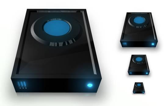 HDD Black PNG