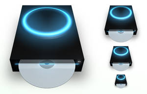 CD Drive Black PNG by madFusion15