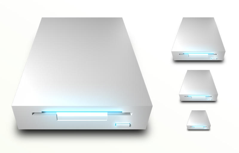 Floppy Drive White PNG by madFusion15
