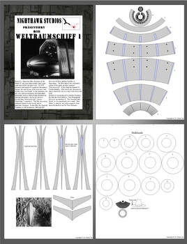 Weltraumschiff 1 papercraft