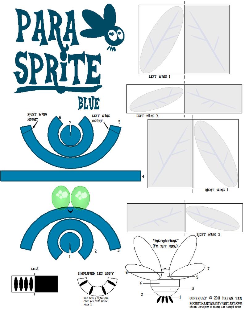 Parasprite papercraft by RocketmanTan