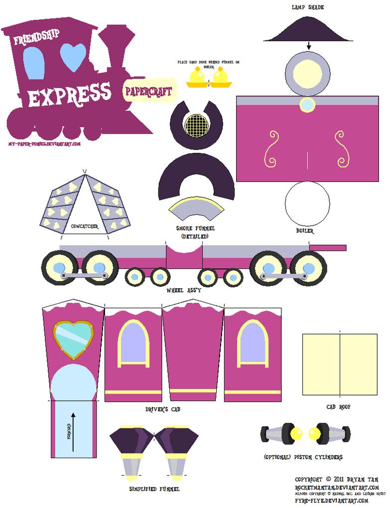 Friendship Express papercraft by RocketmanTan