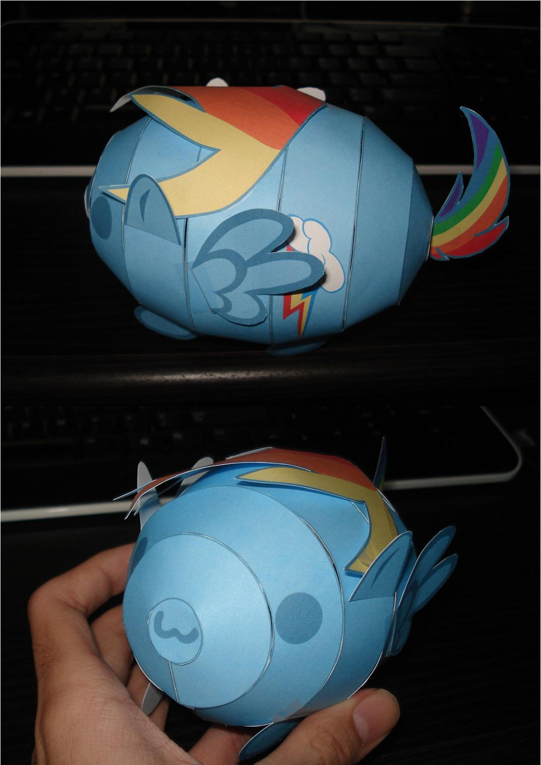 MLP: Rainbow Dash Blob papercraft by RocketmanTan