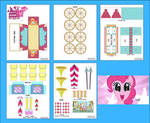 MLP - Pinkie Pie's Welcome Wagon Papercraft