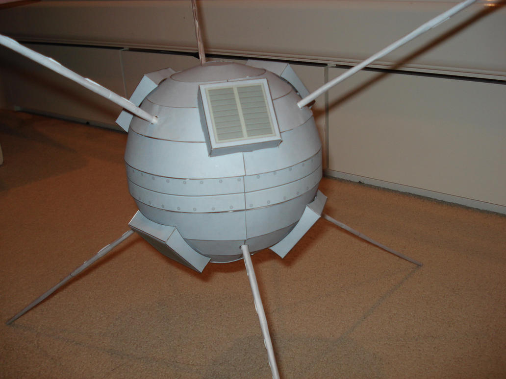 Full size Vanguard 1 Spacecraft papercraft by RocketmanTan