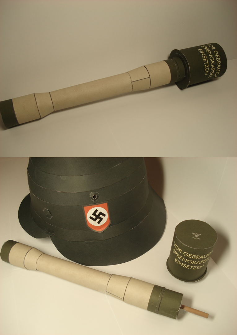 Full size M24 Grenade papercraft by RocketmanTan