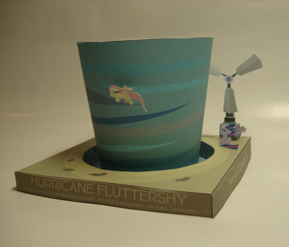 MLP - Hurricane Fluttershy Papercraft (templates) by RocketmanTan