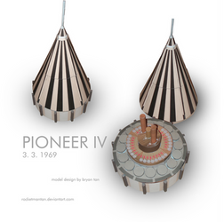 Full Size Pioneer 4 Spacecraft Paper Model