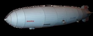 LZ 129 Hindenburg Airship paper model