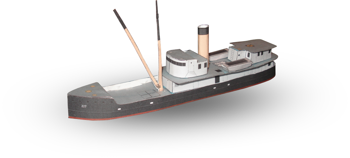 Coast Guard Ship Lilac Papercraft by RocketmanTan