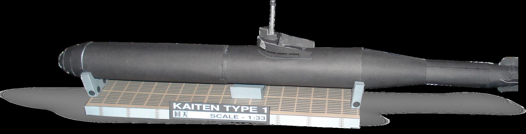 Kaiten Suicide Torpedo Papercraft by RocketmanTan