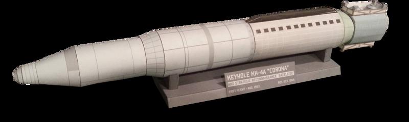 Corona Spy Satellite Papercraft