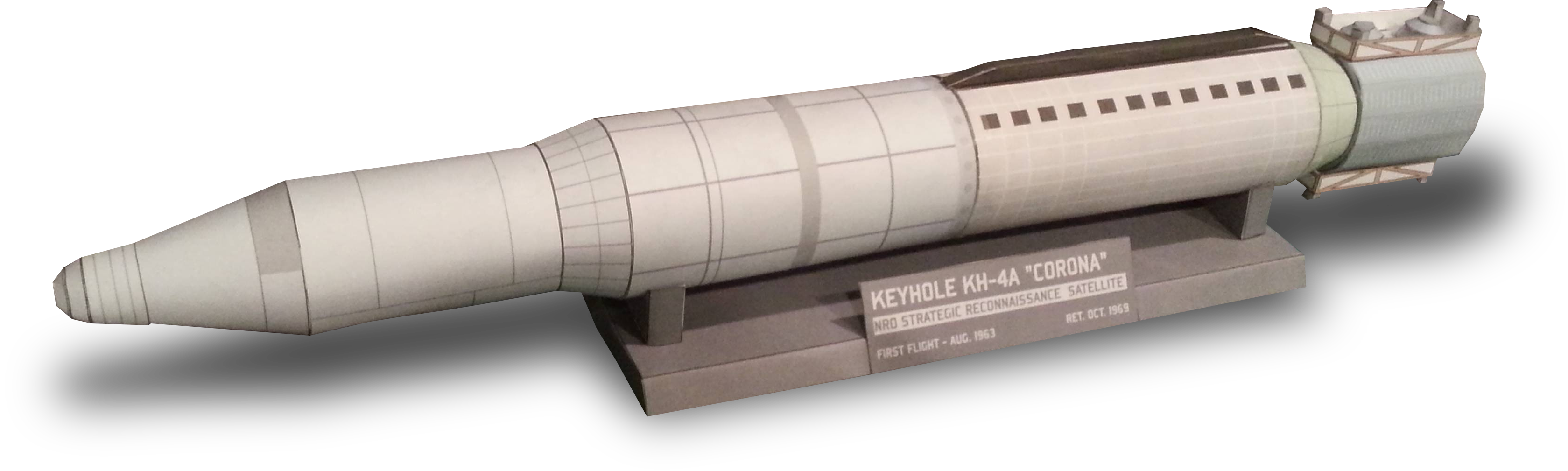 Corona Spy Satellite Papercraft by RocketmanTan