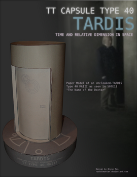 Doctor Who - Uncloaked TARDIS Papercraft
