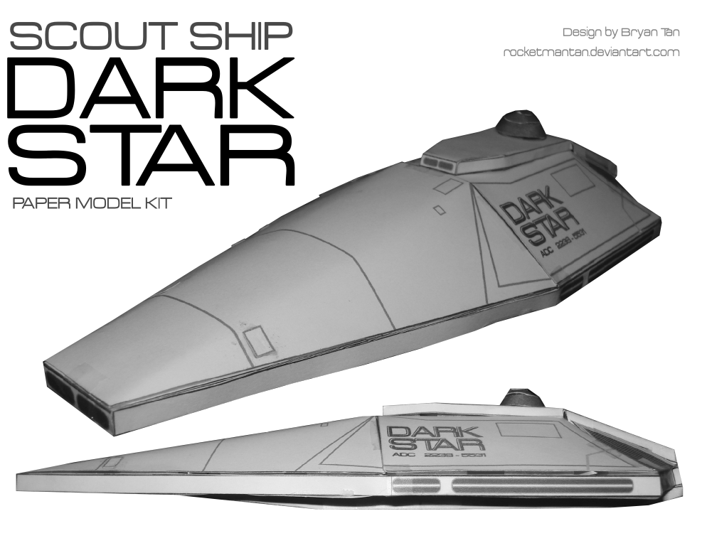 Dark Star Spaceship Paper Model by RocketmanTan