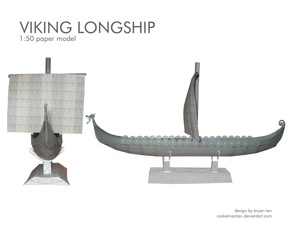 Viking Longship Paper Model by RocketmanTan