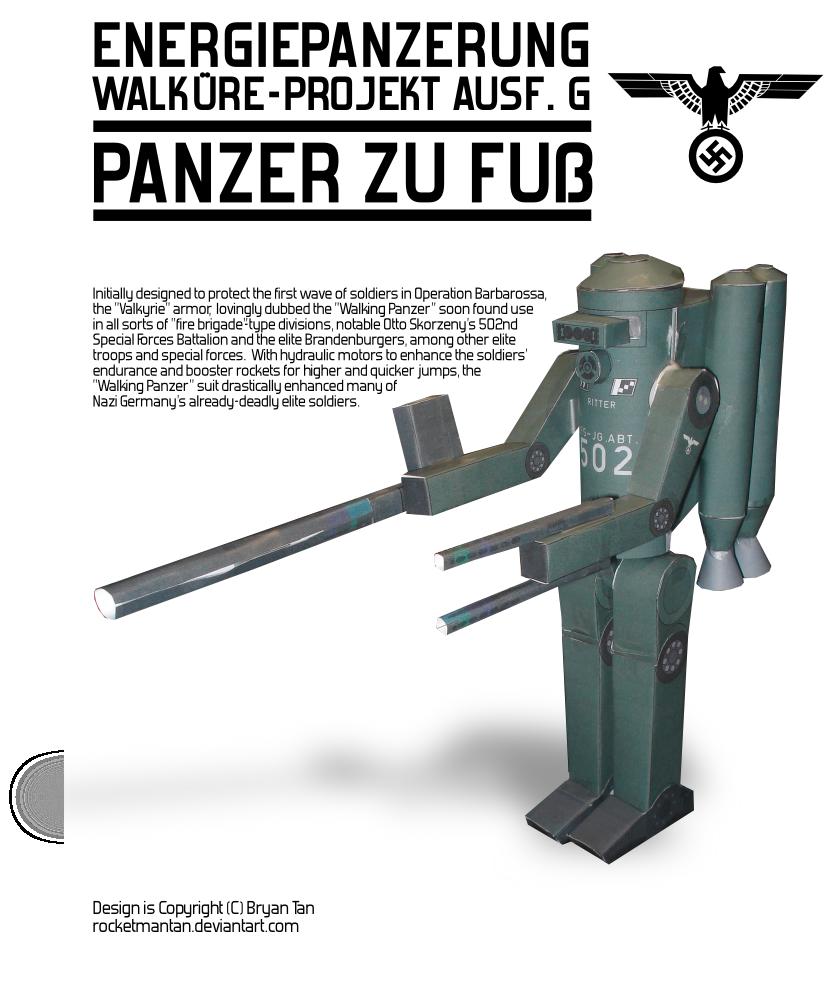 Nazi Mech Suit Paper Model by RocketmanTan