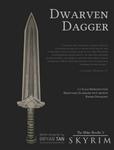 Skyrim - Dwarven Dagger Paper Model