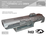 Halo 4 - UNSC Forward Unto Dawn Paper Model