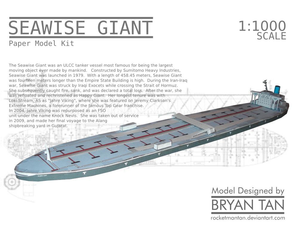 Seawise Giant Knock Nevis Paper Model By Rocketmantan On