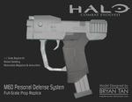 Halo - M6D Pistol Papercraft Replica