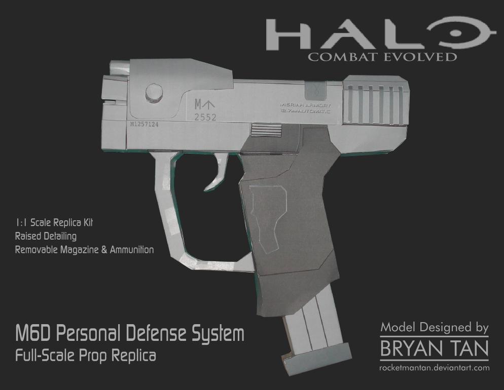 Halo M6d Pistol Papercraft Replica By Rocketmantan On Deviantart