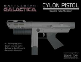BSG - Cylon Pistol Paper Model by RocketmanTan