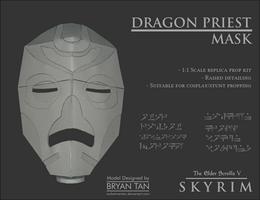 Skyrim - Dragon Priest Mask Papercraft Replica