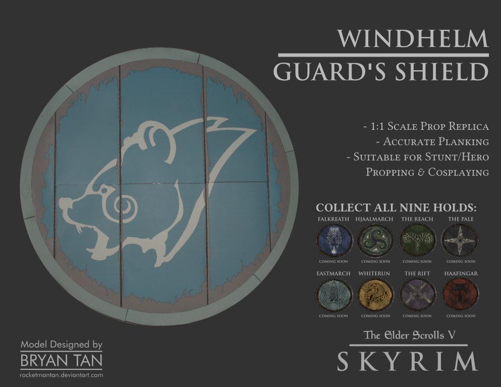 Skyrim - Shield of Windhelm Replica Paper Model by RocketmanTan