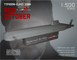 Red October Submarine Paper Model