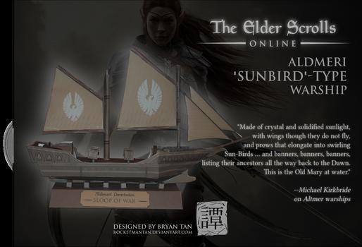 Elder Scrolls Online - Altmer Ship Paper Model by RocketmanTan