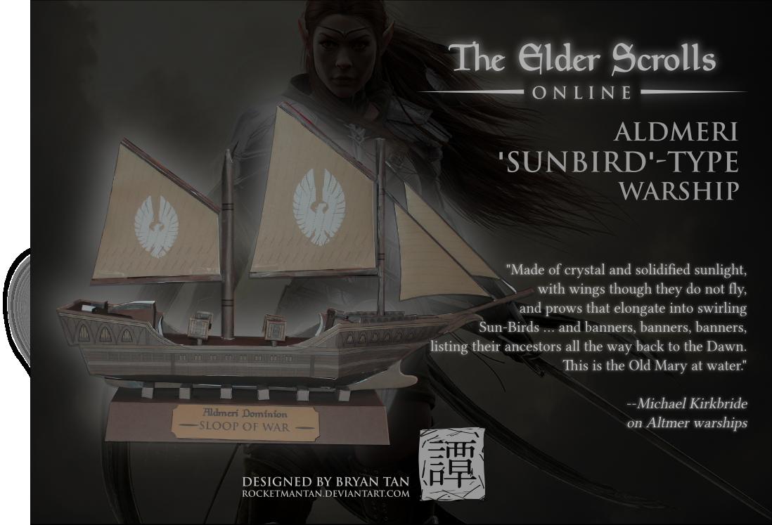 elder scrolls online altmer ship paper model by rocketmantan on elder scrolls online altmer ship paper model by rocketmantan