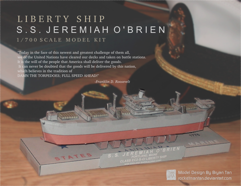 Liberty Ship Papercraft SS Jeremiah O'Brien